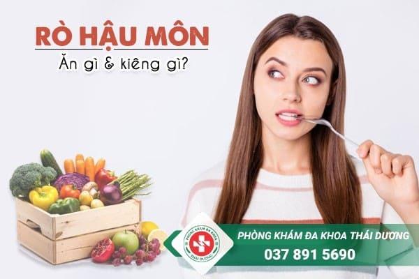 Bệnh rò hậu môn nên ăn gì và kiêng ăn gì