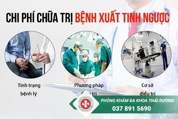 chi phí chữa trị bệnh xuất tinh ngược ở Biên Hòa 1