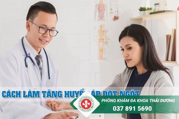 Cách làm tăng huyết áp đột ngột
