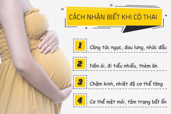Cách nhận biết khi có thai