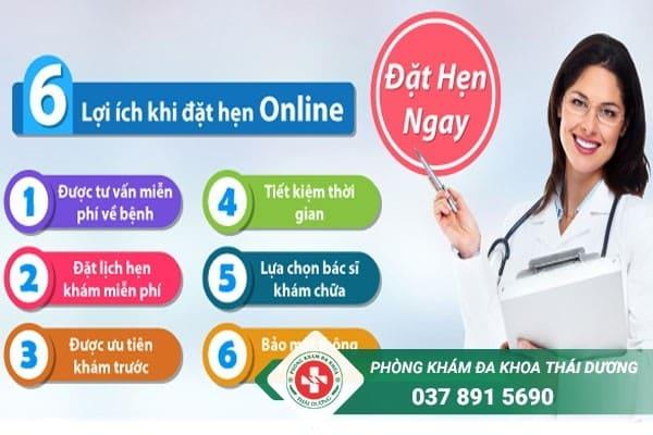 Lợi ích đặt hẹn online tại Phòng khám đa khoa Thái Dương Biên Hòa