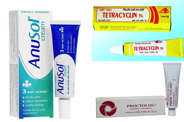 Một số loại thuốc bôi nứt kẽ hậu môn thường dùng