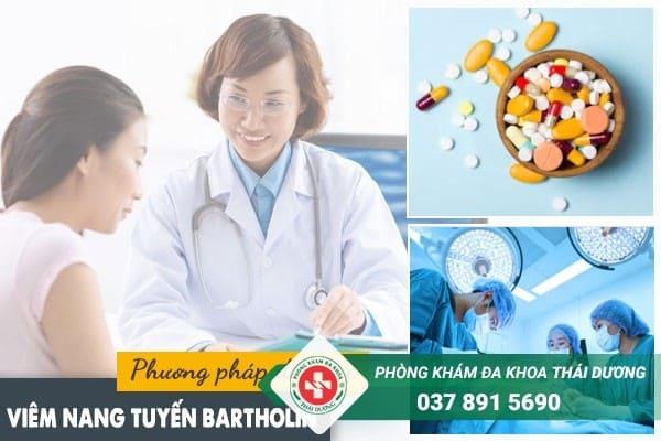 Tùy vào tình trạng bệnh mà bác sĩ sẽ chỉ định phương pháp điều trị viêm nang tuyến bartholin phù hợp