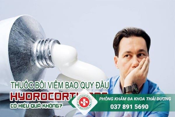 Thuốc bôi chữa viêm bao quy đầu hydrocortisone có hiệu quả?