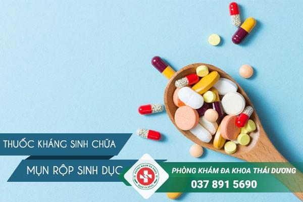 Thuốc kháng sinh chữa mụn rộp sinh dục