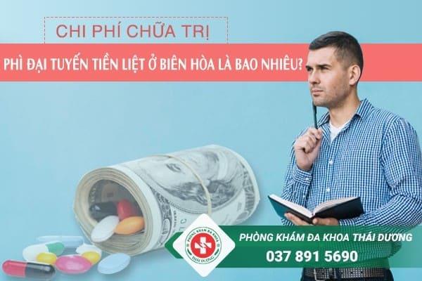 Chi phí chữa trị bệnh phì đại tuyến tiền liệt ở Biên Hòa là bao nhiêu?