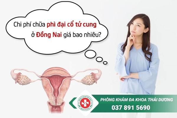 Chi phí chữa trị bệnh phì đại cổ tử cung ở Đồng Nai giá bao nhiêu