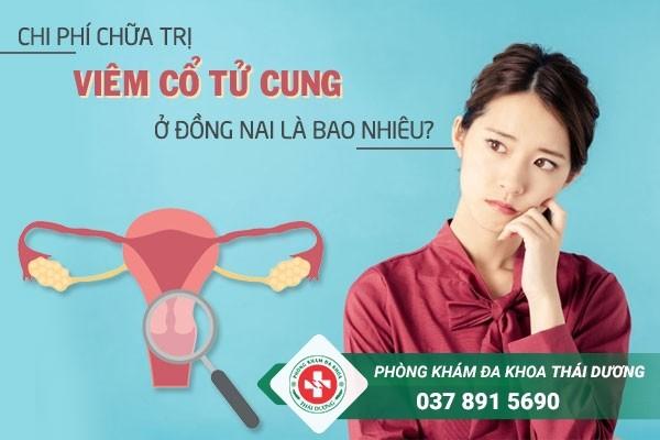 Chi phí chữa trị bệnh viêm cổ tử cung ở Đồng Nai bao nhiêu là hợp lý