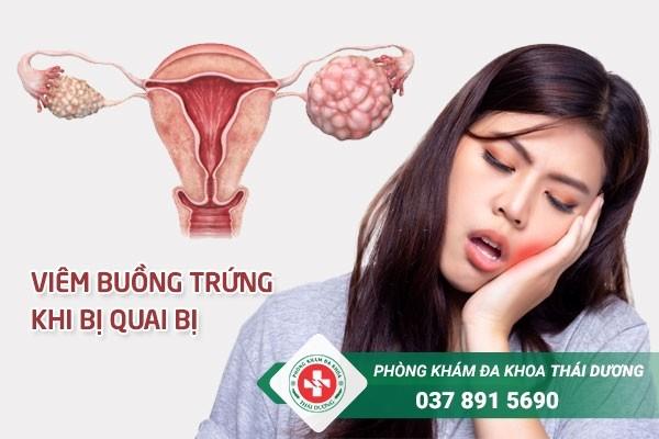 Viêm buồng trứng là biến chứng khi bị quai bị ở nữ giới