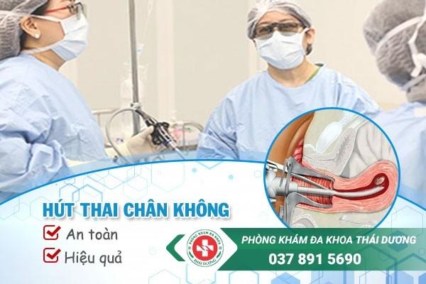 Phòng khám Thái Dương Biên Hòa áp dụng phương pháp hút thai chân không tiên tiến