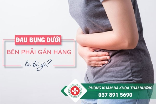 Đau bụng dưới bên phải gần háng ở phụ nữ là bị gì?