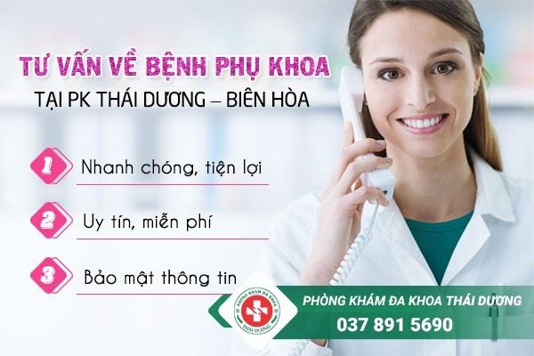 Tư vấn về bệnh phụ khoa online ở nữ miễn phí tại Phòng khám Thái Dương - Biên Hòa